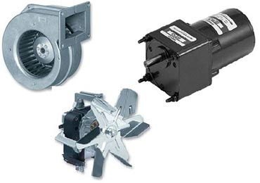 Fans, motors with gearboxes